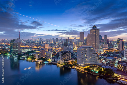 Fotografia  Bangkok city skyline