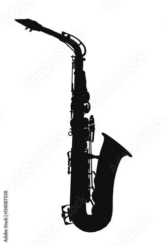 Fotografia Silhouette eines Saxophons