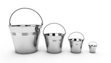 Metal Bucket Isolated On White...