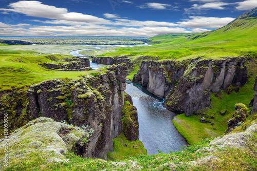 Obraz na plátně Steep cliffs