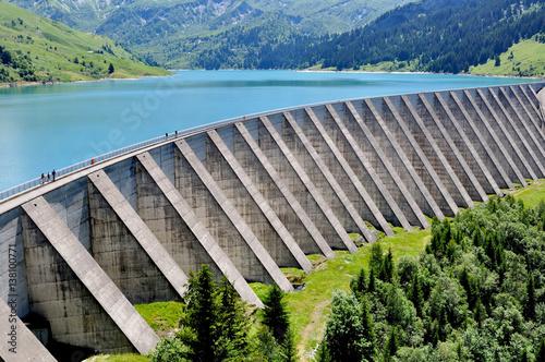 Poster Dam barrage de Roselend en Savoie