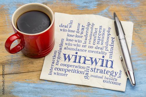 Fotografiet  win-win strategy