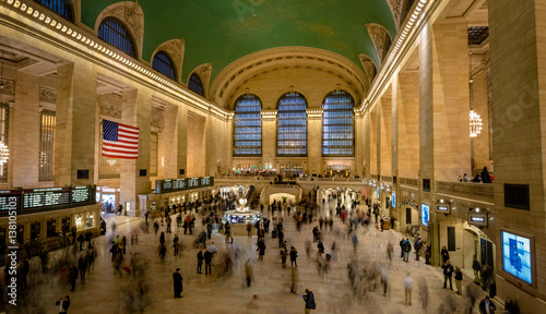 Interior of Grand Central Station in New York Tablou Canvas