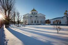 Transfiguration Cathedral In Bila Tserkva. Winter.