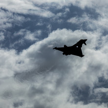 Silhouette Of The Typhoon