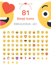 81 Friendly Vector Emoticons -...