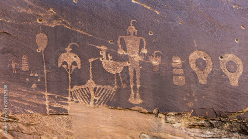Butler Wash Wolfman Petroglyph panel Wallpaper Mural