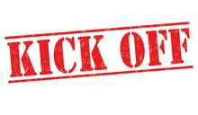 Kick Off Sign Or Stamp