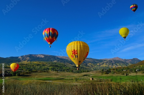Poster Montgolfière / Dirigeable Snowmass Balloon Festival Colorado