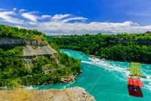 View Of Niagara Falls River Wi...