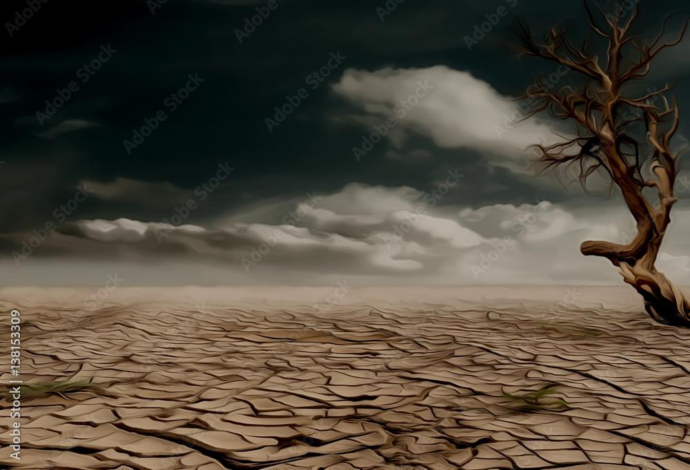 A barren desert