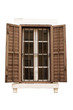 vintage window isolated with clipping path