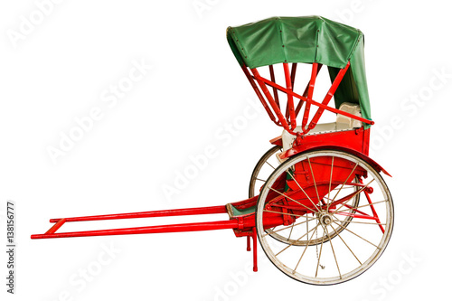 Fotografie, Obraz  Man Walk Rickshaw