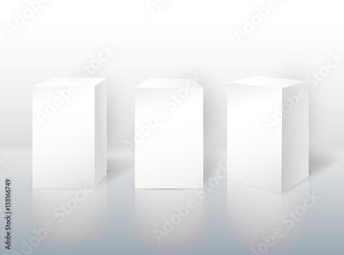 Fotografie, Obraz  Set of pedestal for display
