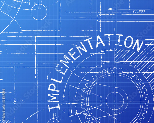 Implementation Blueprint Machine Canvas Print