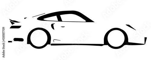 Photo  Fast Car Outline