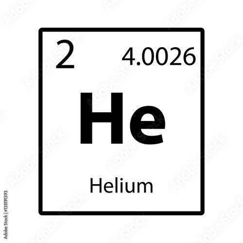 paper on helium element The element helium, on its own, does not have a formula, per se, but does have an element symbol: he (refer to the picture below) a formula would be used when elements bond with other elements in a chemical reaction of some sort.
