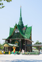 Wat PA Maha Jedi Kaeo (WAT Million Bottles) In Sisaket,THAILAND 2017