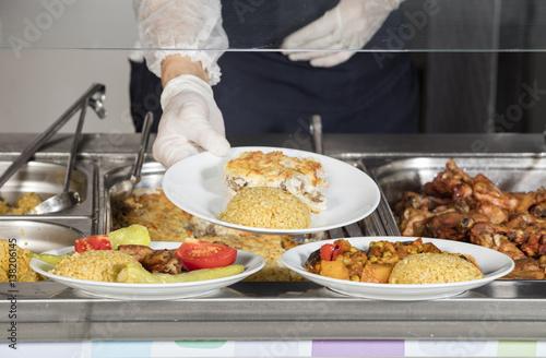 Foto op Aluminium Buffet, Bar full lunch service station