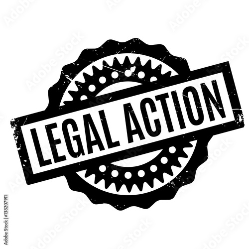 Photo  Legal Action rubber stamp