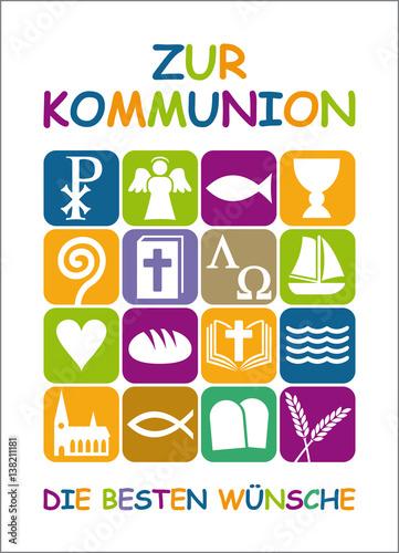 Karte Mit Glückwunsch Zur Ersten Heiligen Kommunion Buy