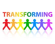 Transforming Paper People Rainbow
