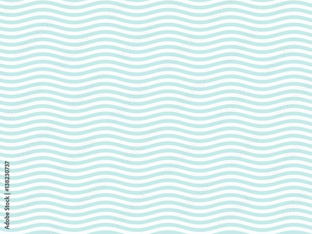 Fototapeta Turquoise or light blue wavy pattern simple