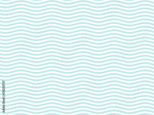 Photo sur Toile Abstract wave Turquoise or light blue wavy pattern simple