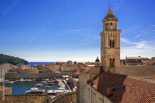 Dubrovnik Old Town marina view from City Walls Poster