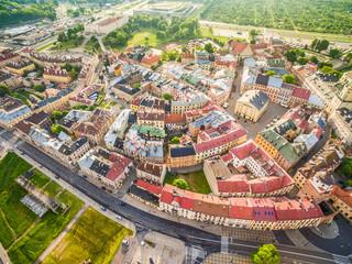 Lublin - panorama starego miasta z lotu ptaka. Atrakcje turystyczne lublina.
