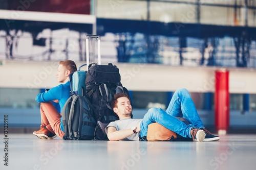 Fotografie, Obraz  Travelers waiting for departure
