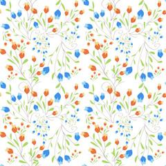 pattern boccioli su sfondo bianco
