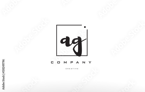 Photo ag a g hand writing letter company logo icon design
