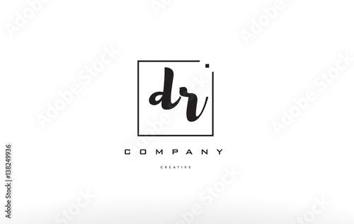 Fotografía dr d r hand writing letter company logo icon design