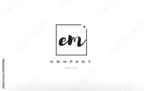 em e m hand writing letter company logo icon design Wallpaper Mural