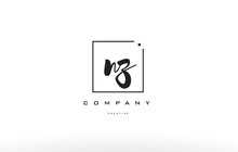 Nz N Z Hand Writing Letter Company Logo Icon Design