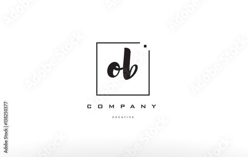 Fotografía  ob o b hand writing letter company logo icon design