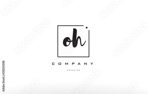 Fotografie, Obraz  oh o h hand writing letter company logo icon design