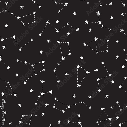 Zdjęcie XXL Stylizowane nocne niebo wzór.