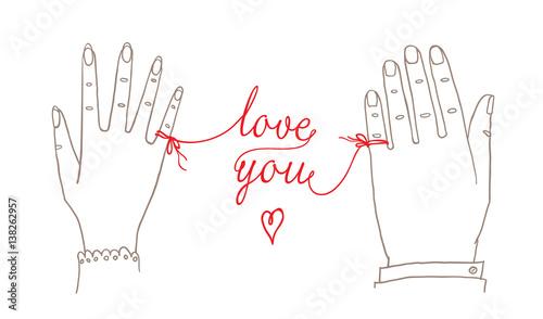 Hand drawn simple valentines day wedding card greetings card hand drawn simple valentines day wedding card greetings card invitation with male m4hsunfo