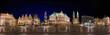 Bremen Marktplatz Panorama nachts