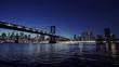 USA, New York, New York City, Manhattan Bridge illuminated at night