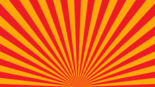 Yellow Orange Rays Poster. Pop...