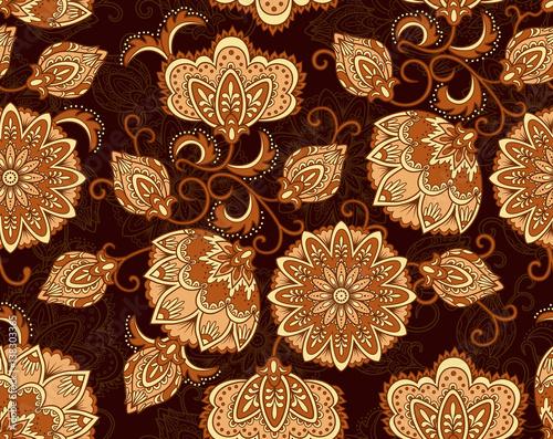 Vintage floral seamless pattern Slika na platnu