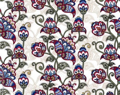 Fotografering  Vintage floral seamless pattern
