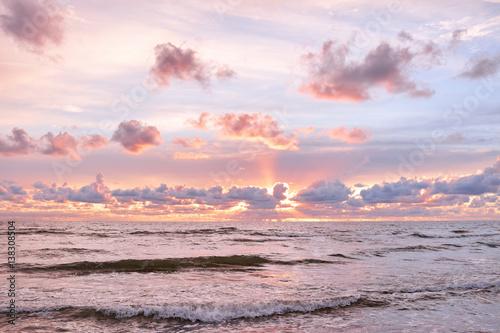 Poster Mer / Ocean sunrise in the sea
