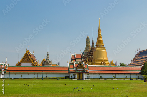 Temple of the Emerald Buddha or Wat Phra Kaew in Bangkok, Thailand Poster