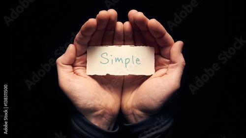Fotografie, Obraz  Hands holding a Business Simple Concept
