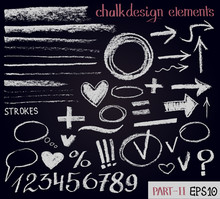 Chalk Texture Design Elements....