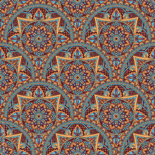 Fotografering  Vintage mandala seamless pattern